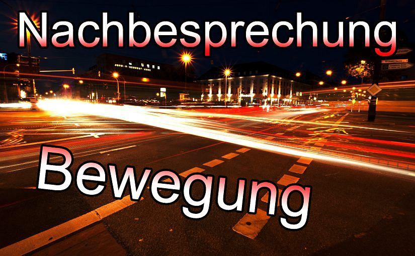 """Nachbesprechung """"Bewegung"""""""