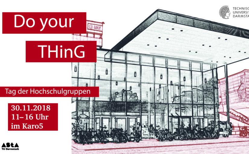 """TU Darmstadt - Tag der Hochschulgruppen """"THinG"""""""