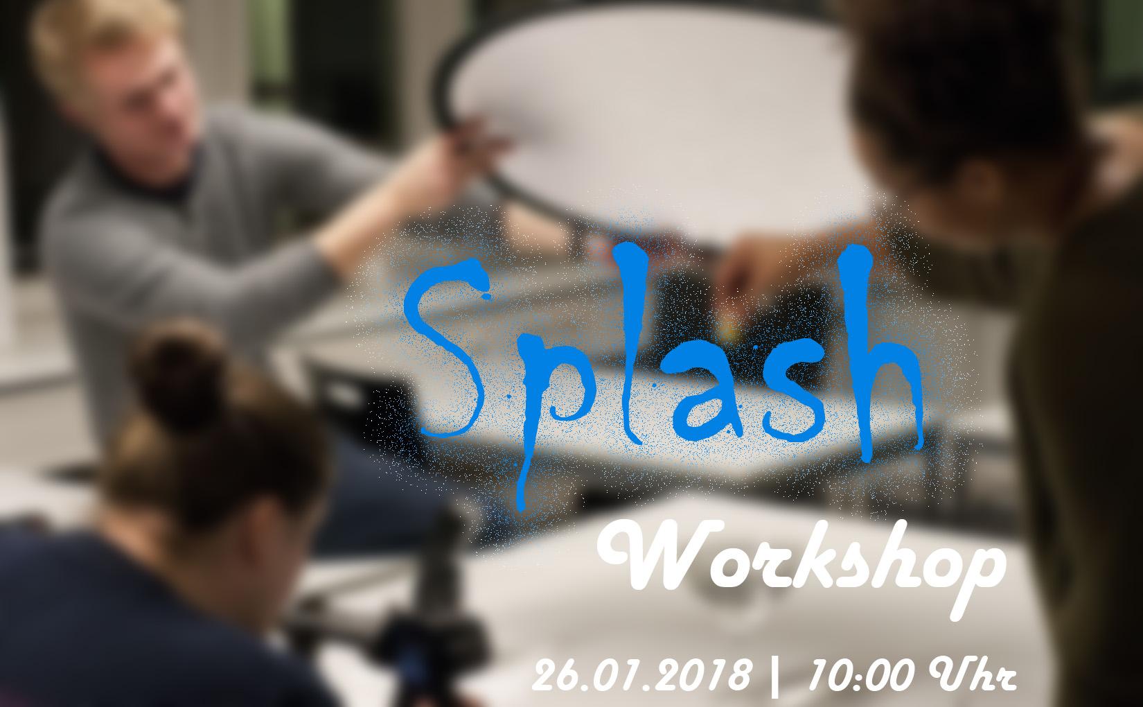 Splash Workshop Ankündigung